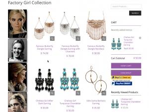Steve Sasco Designs Factory Girl Collection