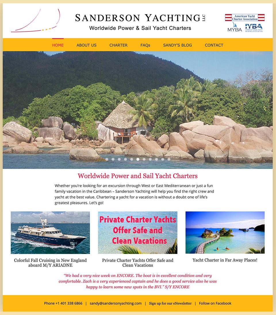 Sanderson Yachting Worldwide Charters