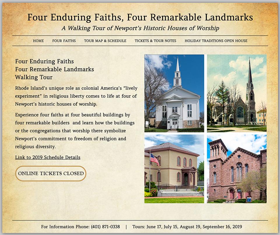 Four Faiths Walking Tour Newport