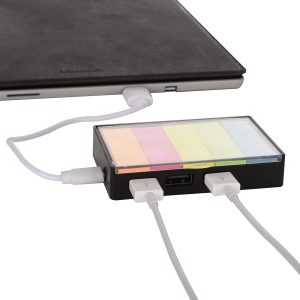3 port USB Hub with sticky flags