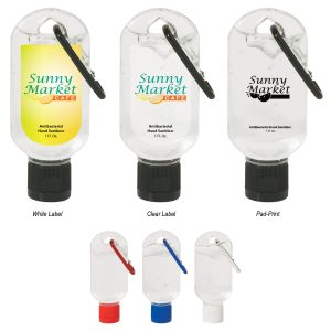 1oz Hand Sanitizer with Carabiner