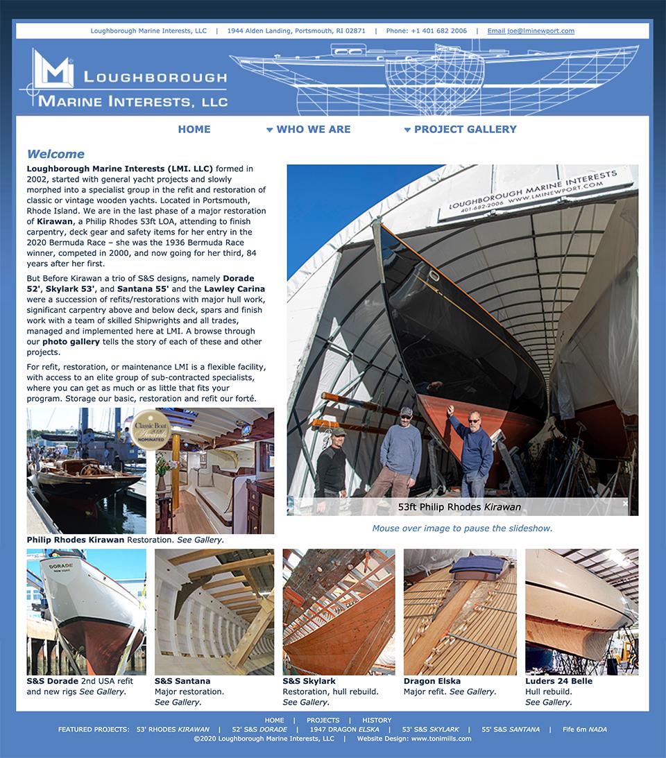 LMI Newport yacht restoration